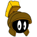 128x128px size png icon of Marvin Martian bronze