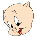 128x128px size png icon of Porky posing
