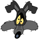 128x128px size png icon of Wile E Coyote explosion