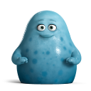 128x128px size png icon of Cute Blue Monsters