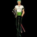 128x128px size png icon of Roronoa Zoro