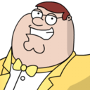 128x128px size png icon of Peter Griffen Tux zoomed 2