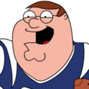 128x128px size png icon of Peter Griffin Football zoomed 2