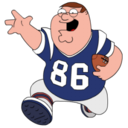 128x128px size png icon of Peter Griffin Football