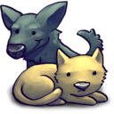 128x128px size png icon of CatDog