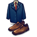 128x128px size png icon of Jacket, Shoes