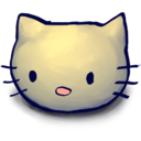 128x128px size png icon of Kitty Head