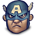 128x128px size png icon of Steve Rogers