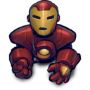 128x128px size png icon of blackred ironman