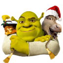 128x128px size png icon of Shrek and Donkey and Puss