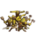 128x128px size png icon of Shrek and Fiona