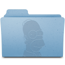 128x128px size png icon of Homer Folder