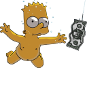 128x128px size png icon of Bart Simpson 06 Nirvana Nevermind