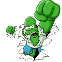 128x128px size png icon of Homer Simpson 05 The Incredible Homer