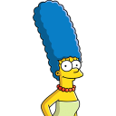 128x128px size png icon of Marge Simpson