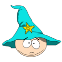 128x128px size png icon of Cartman Gandalf head