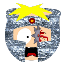128x128px size png icon of butters professor chaos head