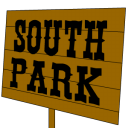 128x128px size png icon of south park sign