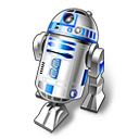 128x128px size png icon of R2D2