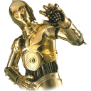 128x128px size png icon of C3PO