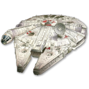 128x128px size png icon of Millenium Falcon 01