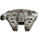 128x128px size png icon of Millenium Falcon 02