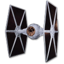 128x128px size png icon of Tie Fighter 01