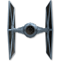128x128px size png icon of Tie Fighter 03