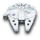 128x128px size png icon of MilleniumFalcon