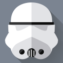 128x128px size png icon of Stormtrooper