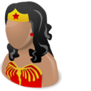 128x128px size png icon of Wonder woman