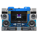 128x128px size png icon of Transformers Soundwave no tape front