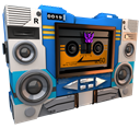128x128px size png icon of Transformers Soundwave tape side