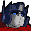 128x128px size png icon of Optimus Prime