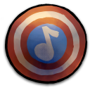 128x128px size png icon of Comics Captain America Shield 2
