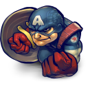 128x128px size png icon of Comics Captain America