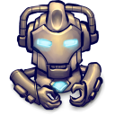 128x128px size png icon of Comics Hero Grey