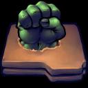 128x128px size png icon of Comics Hulk Fist Folder