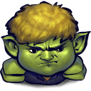 128x128px size png icon of Comics Hulkling Sulking