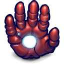 128x128px size png icon of Comics Ironman Hand