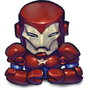 128x128px size png icon of Comics Ironman Patriot