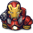 128x128px size png icon of Comics Ironman Red
