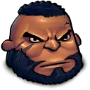 128x128px size png icon of Final Fantasy Barret Wallace