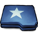 128x128px size png icon of Folder Blue Star