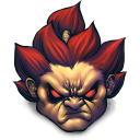 128x128px size png icon of Street Fighter Akuma