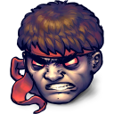 128x128px size png icon of Street Fighter Dark Hadou