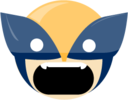 128x128px size png icon of wolverine angry