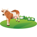 128x128px size png icon of Feeding cattle