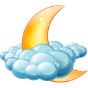 128x128px size png icon of Cloudy night