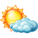 128x128px size png icon of Partly cloudy day